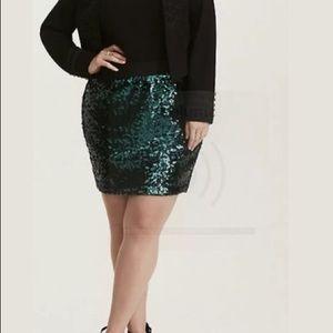 Torrid Sequin Skirt SZ 1X